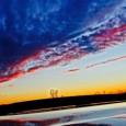 """VOGHERA – Pubblichiamo due foto assai suggestive dell'Oltrepo vogherese. Una ritrae la Marchesina. L'altra la famigerata rotonda Nenni: che vista cosìsembra pure bella. """"Le foto sono state scattate l'altra sera..."""