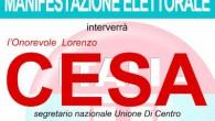 VOGHERA – L'Udc, in corsa per le elezioni del 31 maggio con il candidato Nicola Affronti, in appoggio al candidato sindaco Carlo Barbieri, confermato l'arrivo dell'on Lorenzo Cesa in città....