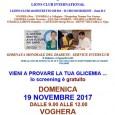 """VOGHERA – I Lions Clubs vogheresi, in occasione della Settimana Mondiale del Diabete, invitano la cittadinanza allo screening gratuito intitolato """"Vieni a provare la tua glicemia"""" in programma perDomenica 19..."""