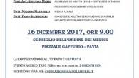 PAVIA – È in programma sabato 16 ottobre, a partire dalle ore 9, presso la sede dell'Ordine dei Medici di Pavia, in viale Ludovico il Moro 31 , un convegno...