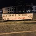 """VOGHERA – """"Sostieni i patrioti, vota CasaPound"""". I militanti della tartaruga frecciata, alcune notti fa hanno affisso cinque striscioni nelle più importanti città pavesi: Pavia, Vigevano, Voghera, Mortara e Stradella..."""