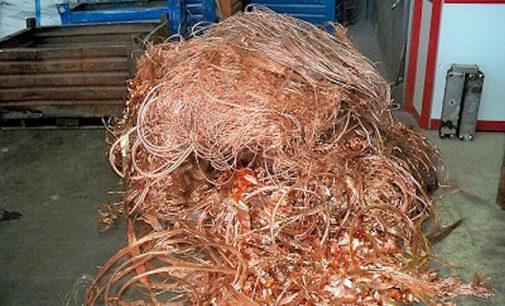 PAVIA 21/10/2014: Smantellato maxi giro di rame (e altri metalli) rubati. Colpita soprattutto la catena che portava l'oro rosso verso il riciclaggio. 9 gli indagati 4 gli arrestati