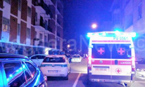 VOGHERA 23/10/2014: Intervento d'urgenza ieri sera in via Bellini. C'era un Tso da eseguire