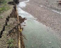 BAGNARIA 18/11/2014: Erosione sullo Staffora. A rischio anche la linea del gas