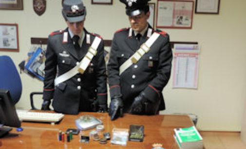 COPIANO 10/11/2014: 30enne di Albuzzano denunciato per lo stupefacente e le cartucce