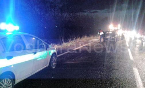 VOGHERA 03/11/2014: Auto fuori strada. Due feriti in tangenziale