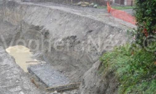 VOGHERA 28/11/2014: Staffora. Iniziati i lavori per la messa in sicurezza della sponda al ponte di via Amendola