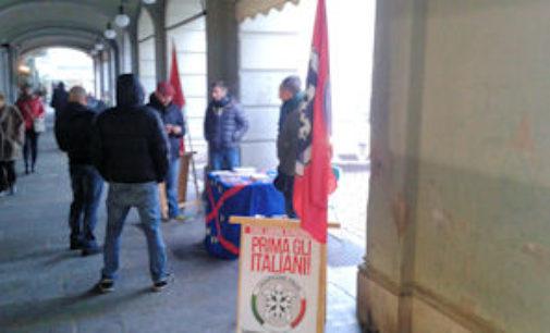 VOGHERA 23/12/2014: CasaPound Italia contro l'impianto a Pirolisi di Retorbido