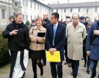 PAVIA 12/12/2014: Il vice presidente della Camera Di Maio (M5s) oggi in visita alla Certosa e alla Fondazione Maugeri