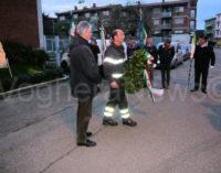 VOGHERA 05/12/2014: Ieri festa di Santa Barbara per i Pompieri. Una corona per ricordare Davide Achilli