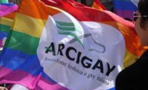 PAVIA 15/01/2015: Arcigay di Pavia alla manifestazione contro il Convegno considerato omofobo
