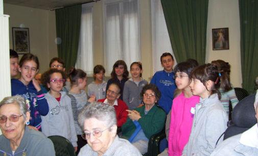 VOGHERA 14/01/2015: Scuola. La De Amicis con i nonni dello Zanaboni anche nel 2015