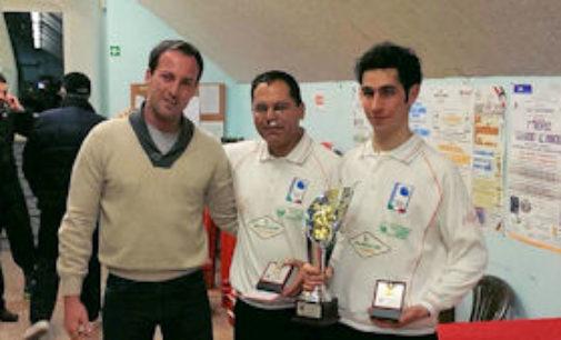 """CASTEGGIO 03/02/2015: Bocce. Brandolini e Fiamberti vincono il """"Trofeo Fratelli Guerci"""""""