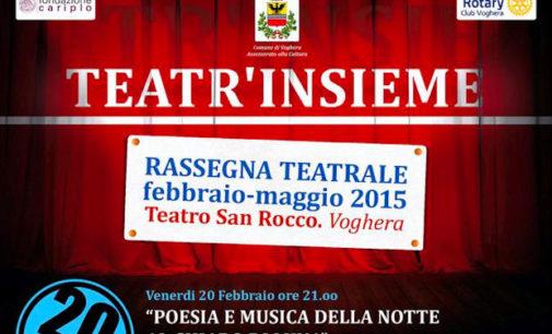VOGHERA 20/02/2015: Teatr'Insieme. Parte la stagione teatrale benefica organizzata da assessorato alla Cultura e Rotary. Stasera al S.Rocco: Paola Pitagora (Voce) e Anna Lisa Bellini (Pianoforte)