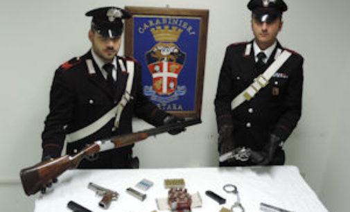 SAN GIORGIO LOMELLINA 13/03/2015: Controllo armi. I carabinieri denunciano due persone