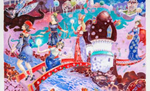 """VOGHERA 14/03/2015: Prosegue a Spazio53 la mostra di pittura: """"L'incantesimo femminile nelle pagine nascoste"""" di Gatti"""