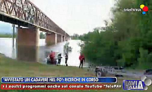 CASEI GEROLA 28/04/2015: Cadavere che galleggia sul Po. In corso le ricerche da parte dei vigili del fuoco