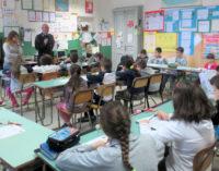 """VOGHERA 23/04/2015: Scuola. Alla De Amicis il Progetto """"Svita il bullismo"""". Gli alunni a lezione con i Vigili"""