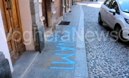 VOGHERA 10/04/2015: Ho scritto T'amo sul… marciapiede. Un grande amore sì ma non per la città
