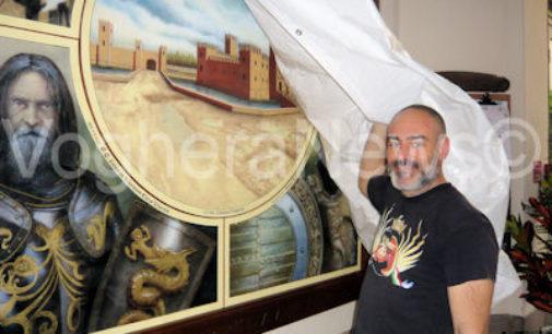 VOGHERA 05/05/2015: L'ingresso del Comune arricchito da due maxi dipinti storici. Saranno svelati venerdì sera