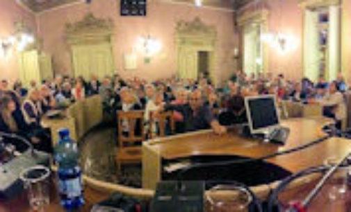 """VOGHERA 11/05/2015: Presentati in Comune i Pannelli storici e il libro """"Palazzo Gunela Il Municipio"""""""
