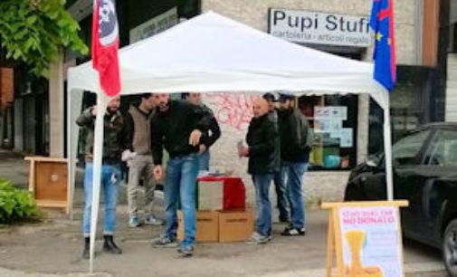 PAVIA 02/05/2015: Primo maggio all'insegna della solidarietà agli italiani per CasaPound