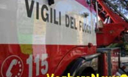 CASEI GEROLA 04/05/2015: Auto a fuoco sulla A7
