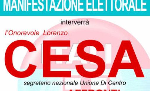 VOGHERA 25/05/2015: Elezioni. Stasera alla piscina Lorenzo Cesa a sostegno di Nicola Affronti