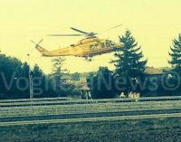 VOGHERA 29/09/2015: Incidente sulla A21. 27enne soccorso con l'elicottero