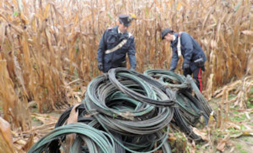CURA CARPIGNANO 09/12/2015: Finalmente catturati i ladri di rame. Fonte di tanti guai e danni economici