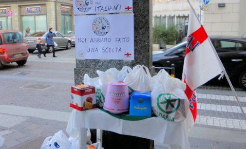 VOGHERA 20/12/2015: Colletta alimentare della Lega Nord riservata agli italiani. Scoppia il dibattito