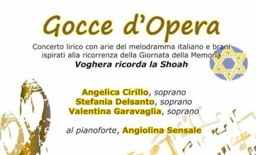 VOGHERA 23/01/2016: Giorno della Memoria. Al Museo Storico il concerto lirico Gocce d'Opera