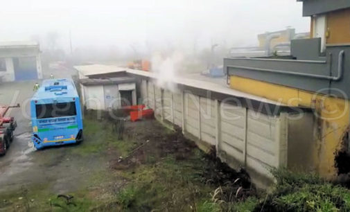 VOGHERA 11/01/2016: Fiamme da Viola Gomme. I pompieri intervengono ed evitano il peggio