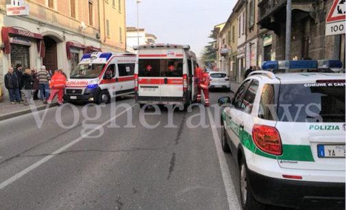 CASTEGGIO 27/01/2016: Ragazzino investito mentre attraversa la strada. Paura in via Torino