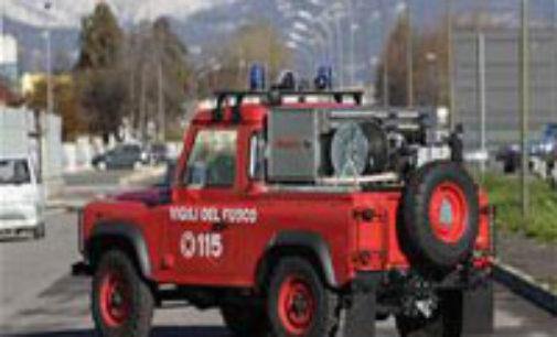 SANTA MARGHERITA 19/02/2016: Incendio nel bosco. Intervengono i pompieri di Voghera