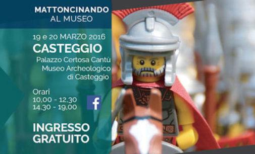 CASTEGGIO 16/03/2016: Alla Certosa nel Week end le mostra dei Lego