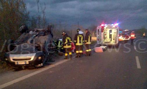 MONTEBELLO 28/03/2016: Scontro sulla tangenziale. Un'auto si ribalta. 4 feriti ieri alle 19. Ieri anche molti altri incidenti sulle strade della provincia