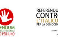 VOGHERA 29/03/2016: Referendum Costituzionale ed elettorale. L'Anpi forma un Comitato