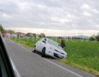 VOGHERA 28/04/2016: Paura per una automobilista. Il mezzo finisce fuori strada