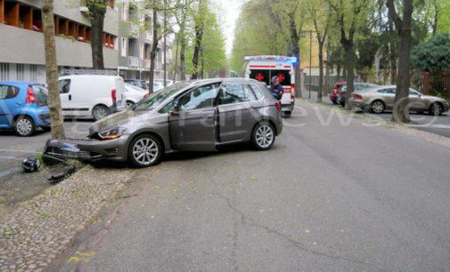 VOGHERA 08/04/2016: Automobilista perde il controllo e va a sbattere contro un albero. Ferita una donna