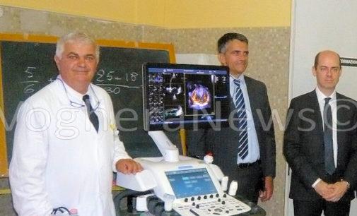 VOGHERA 30/06/2016: Ospedale. Ieri l'arrivo del nuovo super ecografo quadridimensionale per il cuore. Ma Cardiologa punta ad un rilancio complessivo. Il potenziamento spiegato dal neo primario Broglia