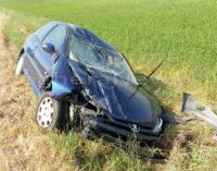 VOGHERA 13/06/2016: Auto esce di strada e si ribalta. Paura sulla Sp461 per una 19enne