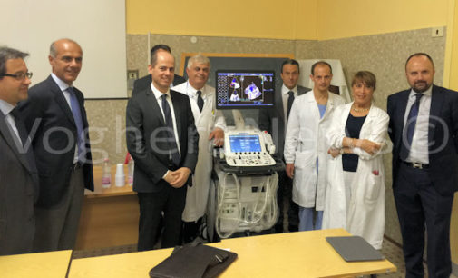VOGHERA 29/06/2016: Un nuovo ecografo d'eccellenza per l'ospedale. E' il primo modello di questo genere installato in Italia. Permetterà di ridurre le liste di attesa e di elevare di molto la qualità degli esami fatti