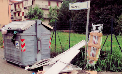 VOGHERA 16/06/2016: Rifiuti abbandonati in via Claretto. Un vogherese s'indigna