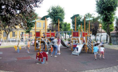 VOGHERA 04/11/2016: Un parco giochi per bambini disabili  all'Auser. Cena benefica del Lions