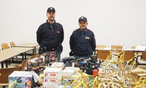 VOGHERA 21/11/2016: La Polizia scopre una cantina piena di botti illegali. Il sequestro ha stroncato il traffico illecito e scongiurato possibili esplosioni