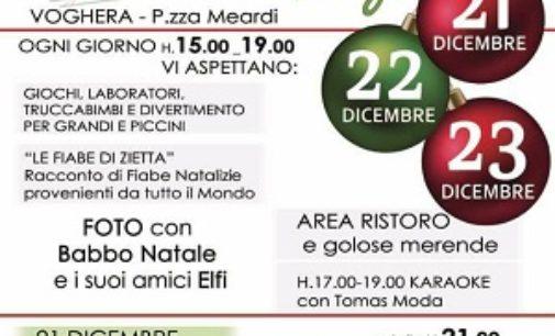 VOGHERA 22/12/2016: Fino a domani in piazza Meardi il Christmas Village della Croce Rossa.