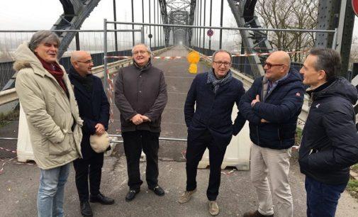 """CASEI GEROLA MEZZANA BIGLI 16/12/2016: Il ponte """"della Gerola"""" riaprirà martedì 20 dicembre. Sarà monitorato per alcune settimane. Nel 2017 subirà interventi per 4.2 milioni"""