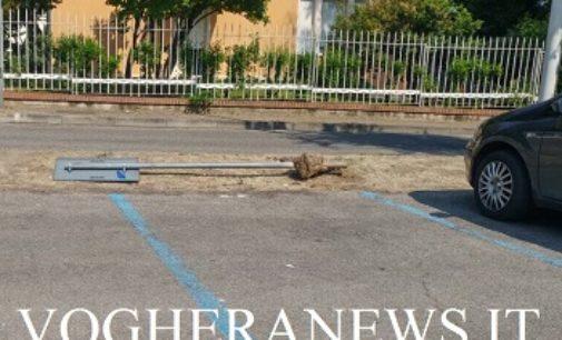 SALICE TERME 31/05/2017: Panchine e pali abbattuti. Salice fa i conti con vandali a cafoni