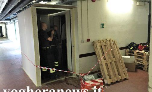 VOGHERA 19/07/2017: (AGGIORNAMENTO) Operaio precipita all'interno della tromba dell'ascensore. Nella caduta gli si trancia una gamba. Il fatto in un cantiere all'interno dell'ospedale